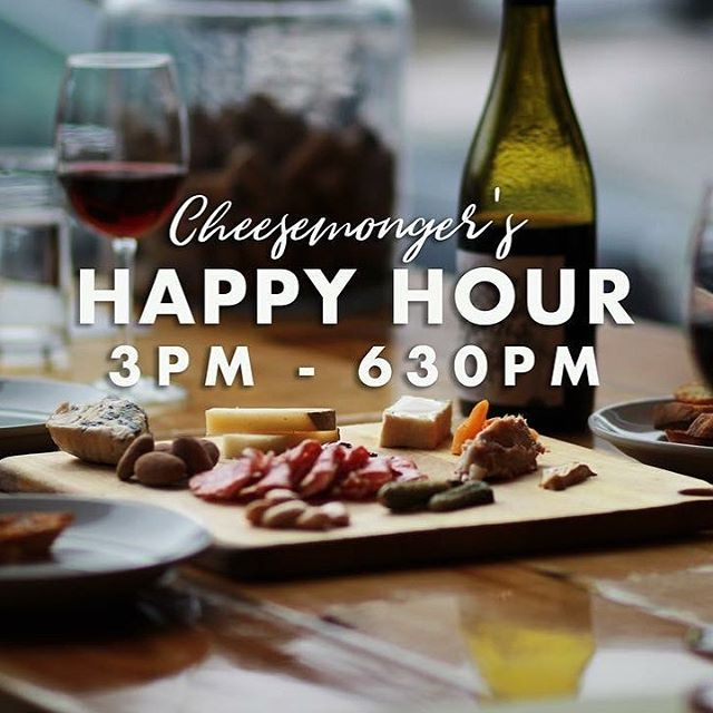 This dreary day calls for a Happy Hour or 2! (and maybe a nibble) See you soon #cheesemongershappyhour #cheeseplease #nickelcitycheese #shopsmall #shoplocal #westsidebuffalo #laitcrubrasserie