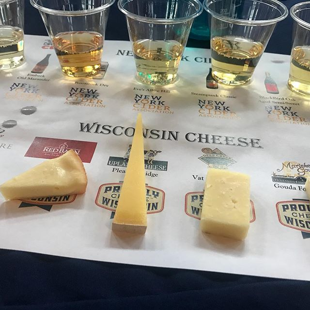 """Another tough day at the """"office"""" #counterculturebuf #counterculture #cidertasting #cheesemonger"""