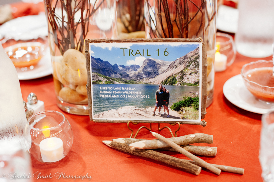 Fall Wedding | Table Names | hiking autumn theme decor by Innovative Party Planners at Chizuk Amuno