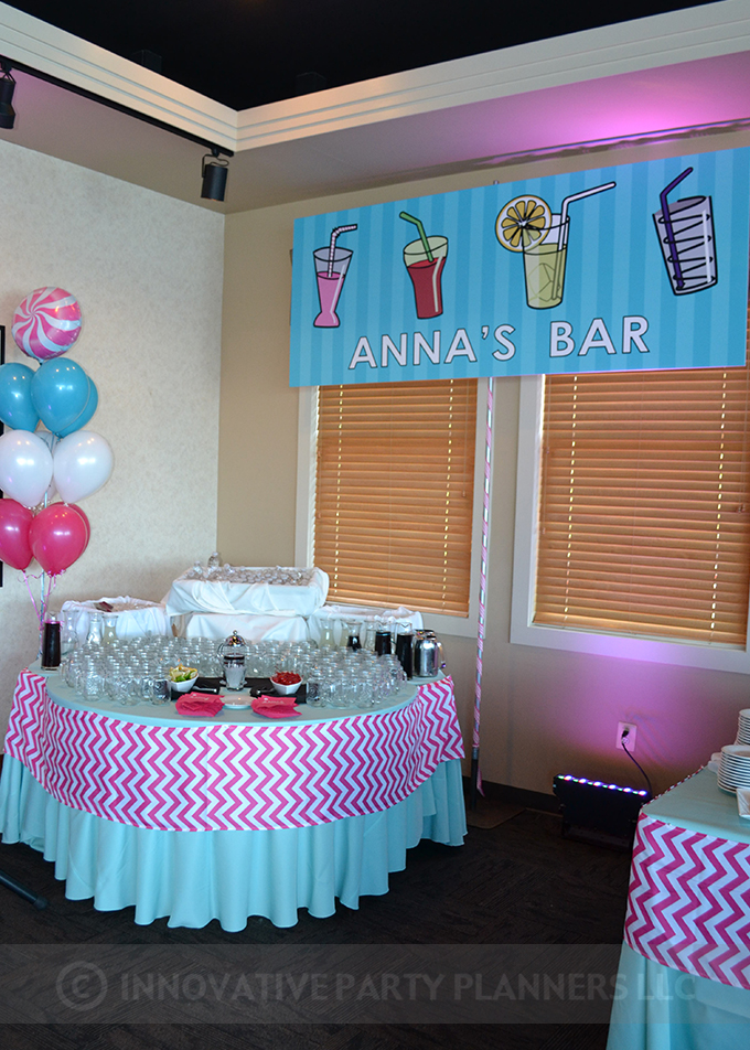 Annas Candy Bar |Bar Event Sign| Bat Mitzvah candy theme, candy bar theme, decor by Innovative Party Planners