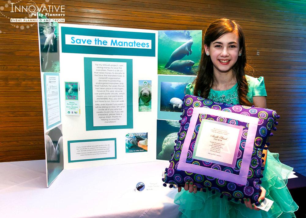Arielles Aquarium   Bat Mitzvah Project  Under the sea, aquarium theme, decor Bat Mitzvah by Innovative Party Planners at the National Aquarium