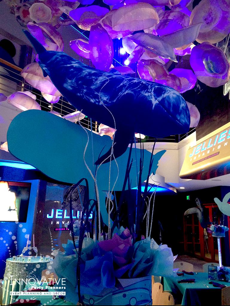 Arielles Aquarium   Ocean Centerpieces   Under the sea, aquarium theme, decor Bat Mitzvah by Innovative Party Planners at the National Aquarium