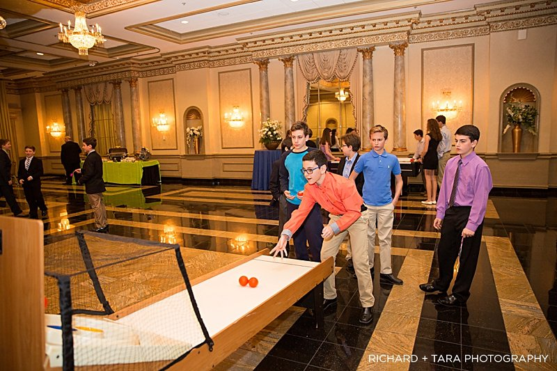 Ethans Swim Meet | Skee-ball Game | Bar Mitzvah swim theme decor by Innovative Party Planners at Martins Valley Mansion
