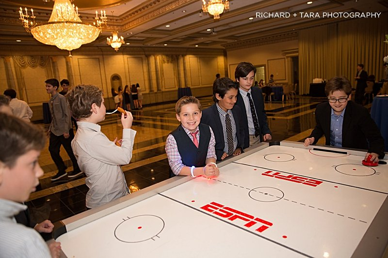 Ethans Swim Meet | Table Hockey Game | Bar Mitzvah swim theme decor by Innovative Party Planners at Martins Valley Mansion