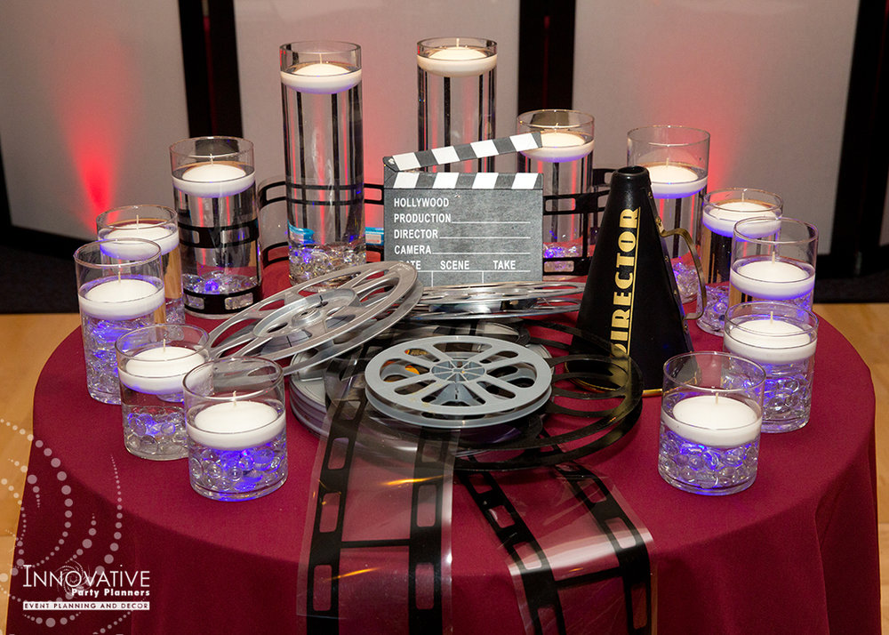To The Max | Candle Lighting | Bar Mitzvah TV theme and movie theme decor by Innovative Party Planners at Temple Beth Ami