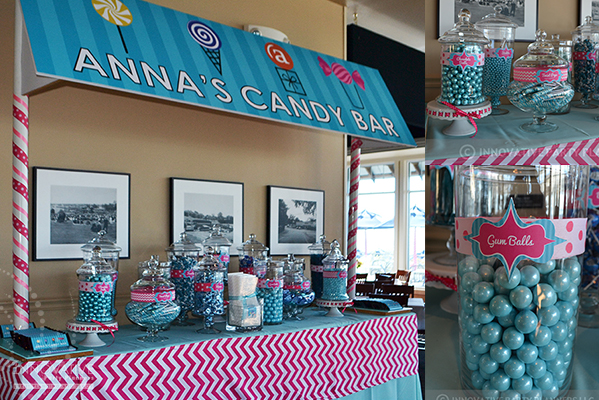 Candy theme featuring a candy bar - Bat Mitzvah Celebration