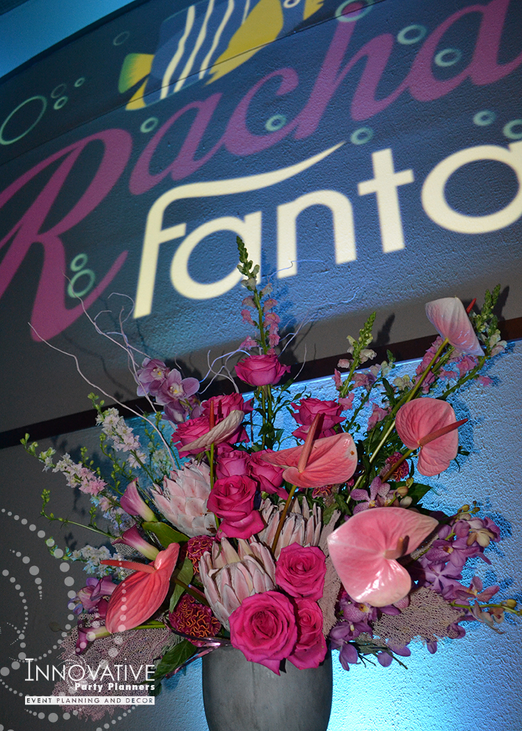 Rachaels Fantasea   Flowers   Bat Mitzvah under the sea theme decor by Innovative Party Planners at Oheb Shalom