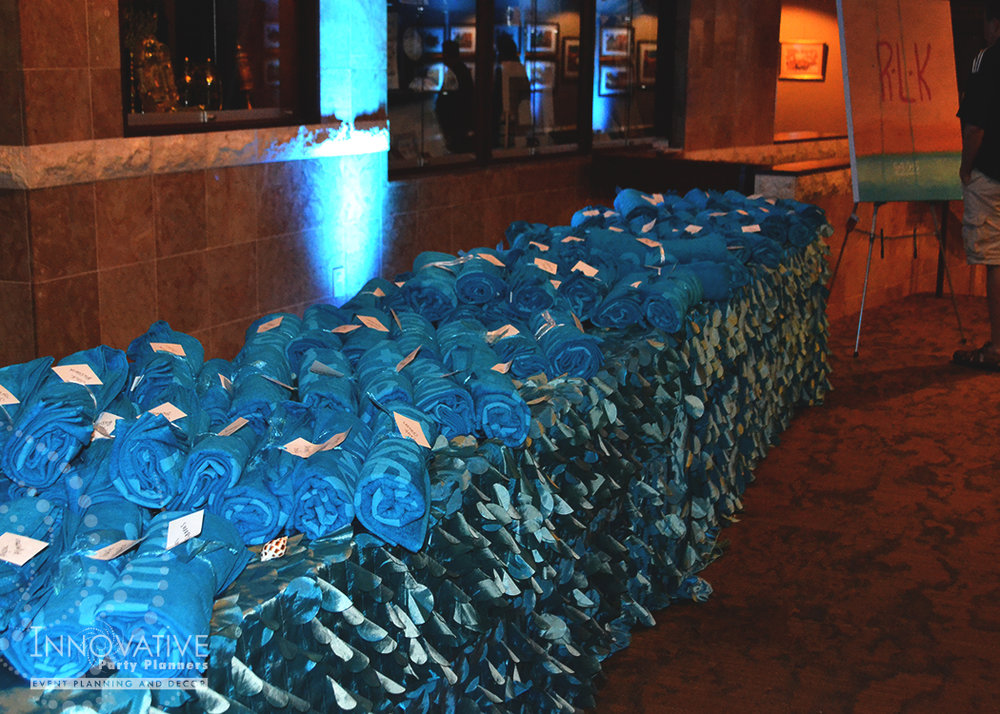 Rachaels Fantasea   Teen Table   Bat Mitzvah under the sea theme decor by Innovative Party Planners at Oheb Shalom