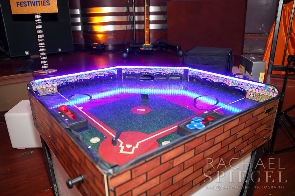 Jonahs March Madness | Sports Arcade Games Baseball | Bar Mitzvah basketball theme, march madness theme, final four theme, decor by Innovative Party Planners