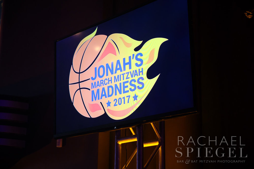 Jonahs March Madness | Logo | Bar Mitzvah basketball theme, march madness theme, final four theme, decor by Innovative Party Planners