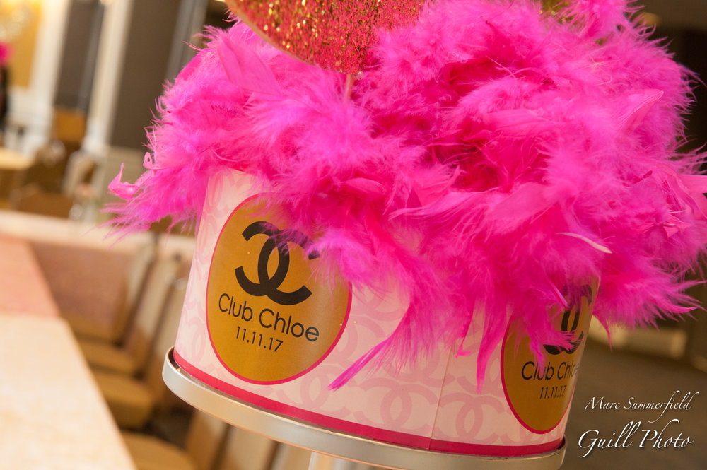 Club Chloe | Teen Centerpieces | Bat Mitzvah club theme decor by Innovative Party Planners at Lord Baltimore Hotel