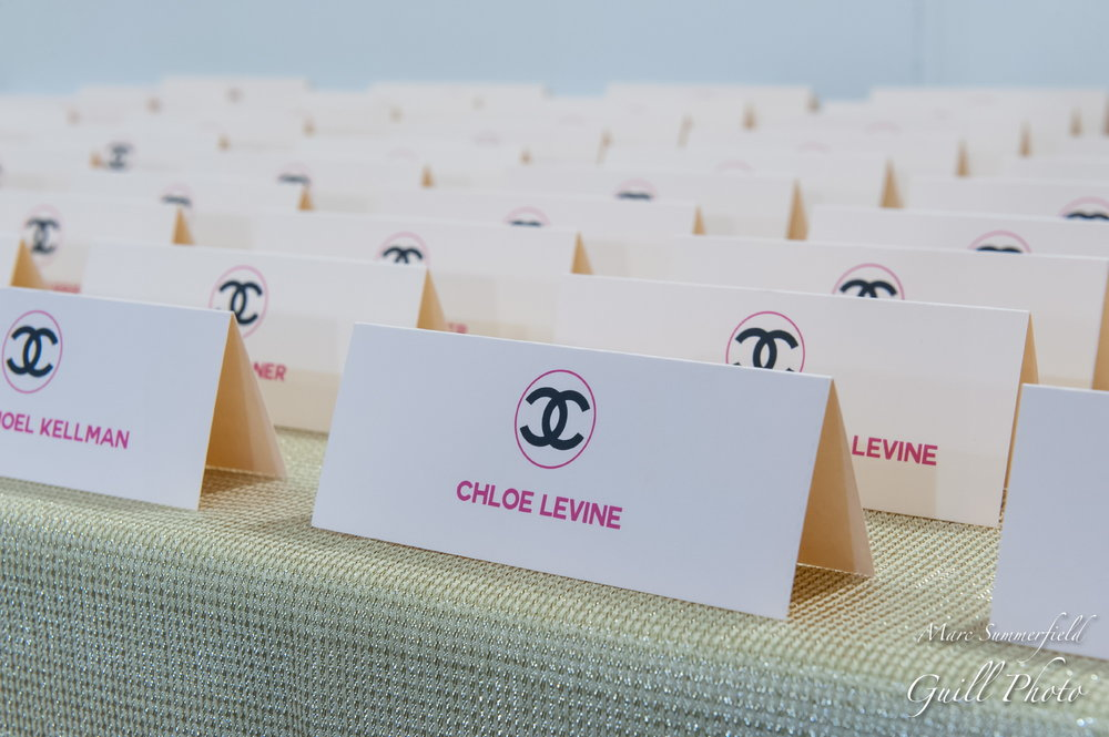 Club Chloe | Place Cards | Bat Mitzvah club theme decor by Innovative Party Planners at Lord Baltimore Hotel