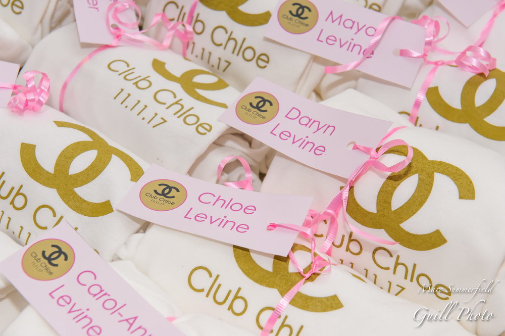 Club Chloe| Party Favors| Bat Mitzvah club theme decor by Innovative Party Planners at Lord Baltimore Hotel
