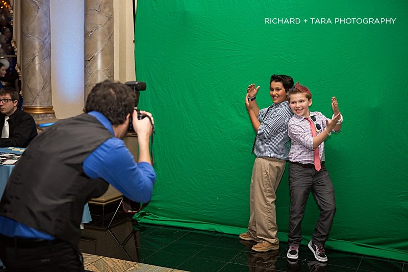 Ethans Swim Meet | Green Screen Photo Booth | Bar Mitzvah swim theme decor by Innovative Party Planners at Martins Valley Mansion