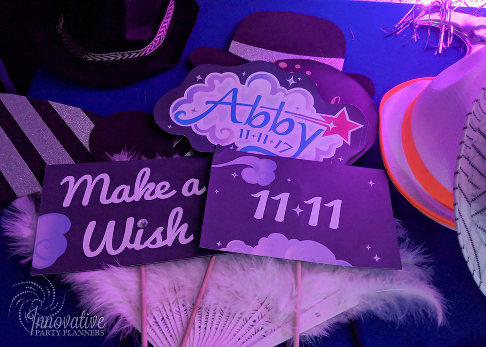 Abby's Starry Night | Custom Photo Booth Props by Innovative Party Planners