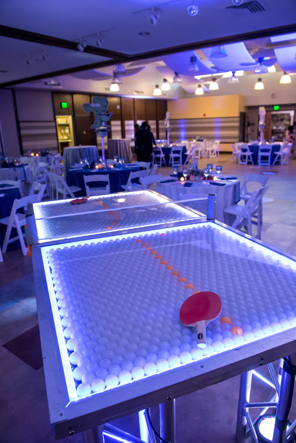 Maxs Cartoons | Ping Pong Games | Bar Mitzvah cartoon theme decor by Innovative Party Planners at Baltimore Hebrew