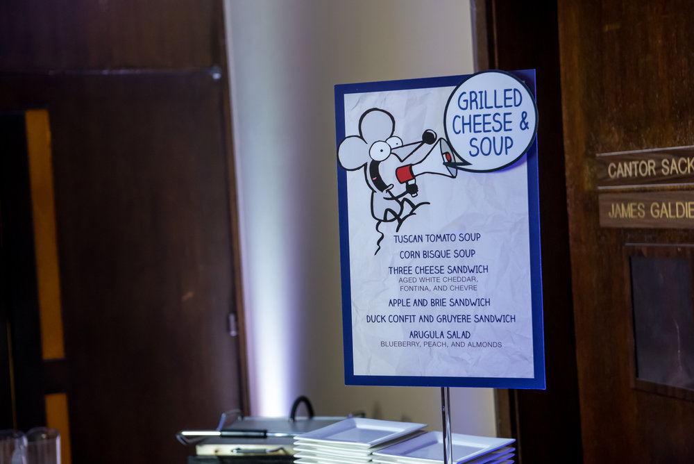 Maxs Cartoons | Buffet Food Station Sign| Bar Mitzvah cartoon theme decor by Innovative Party Planners at Baltimore Hebrew