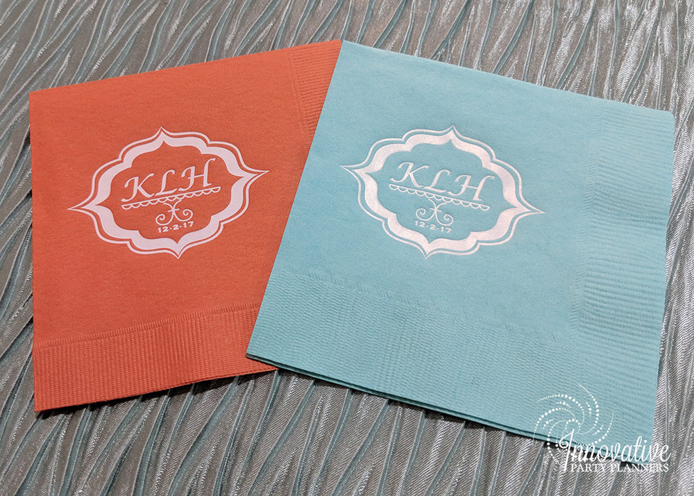 Kates Sweet Shoppe | Cocktail Napkins | Bat Mitzvah candy theme decor by Innovative Party Planners at Temple Beth Ami