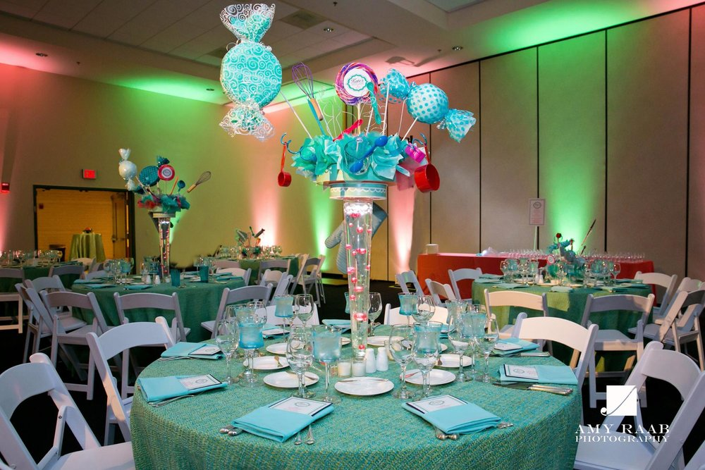Kates Sweet Shoppe | Bat Mitzvah candy theme decor by Innovative Party Planners at Temple Beth Ami