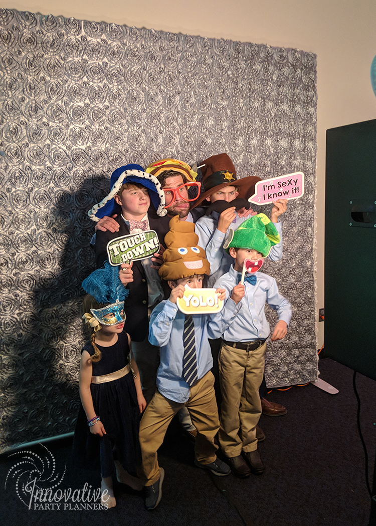 Kates Sweet Shoppe | Photo Booth and Props| Bat Mitzvah candy theme decor by Innovative Party Planners at Temple Beth Ami