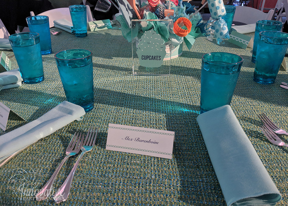 Kates Sweet Shoppe | Teen Table | Bat Mitzvah candy theme decor by Innovative Party Planners at Temple Beth Ami