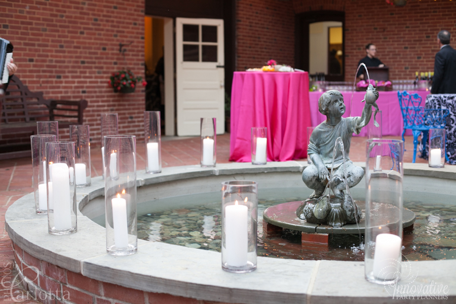 Anniversary Party | Garden Party | Travel theme decor by Innovative Party Planners at the Gramercy Mansion Carriage House