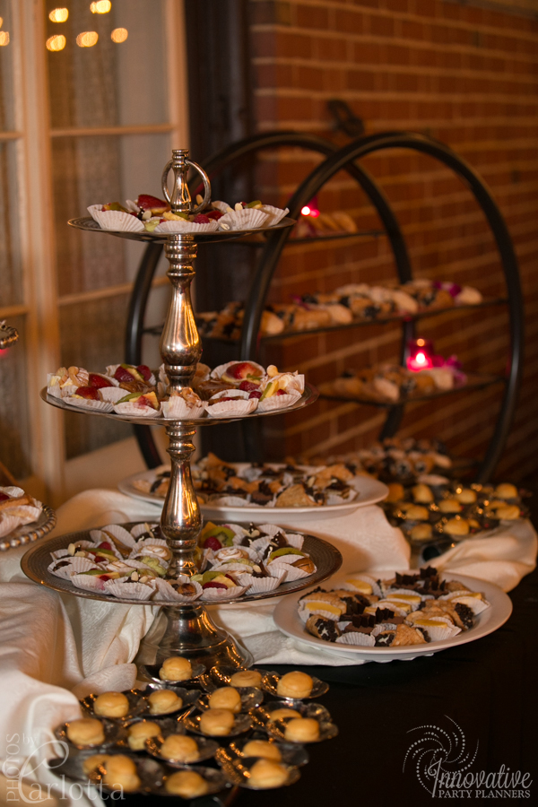 Anniversary Party | Dessert Table| Travel theme decor by Innovative Party Planners at the Gramercy Mansion Carriage House