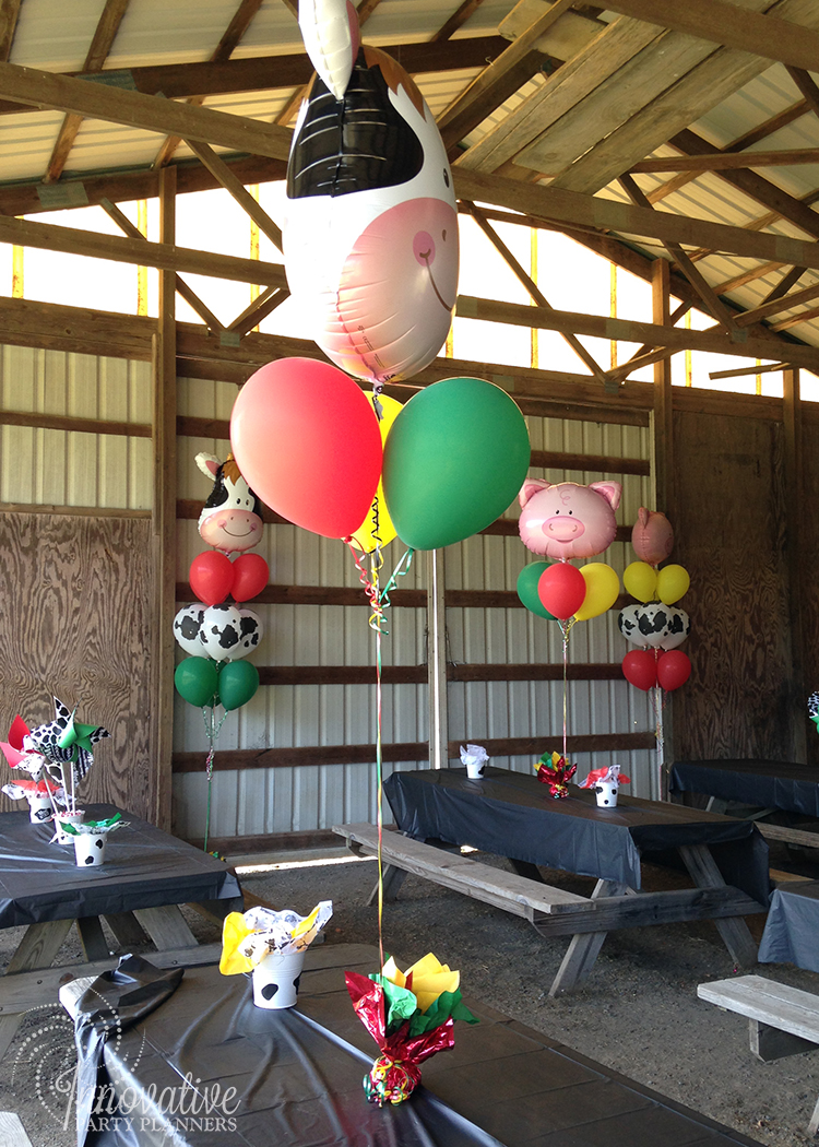 Children's Birthday | Farm Theme Balloons | Decor by Innovative Party Planners