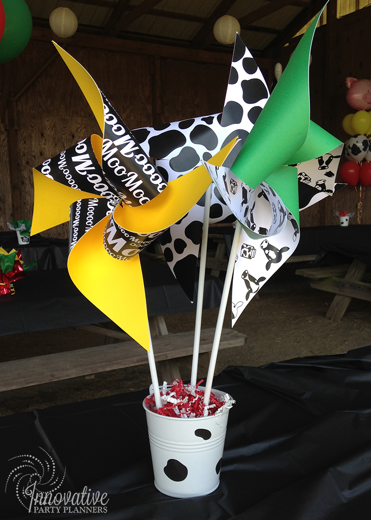 Children's Birthday | Farm Theme Centerpieces | Decor by Innovative Party Planners