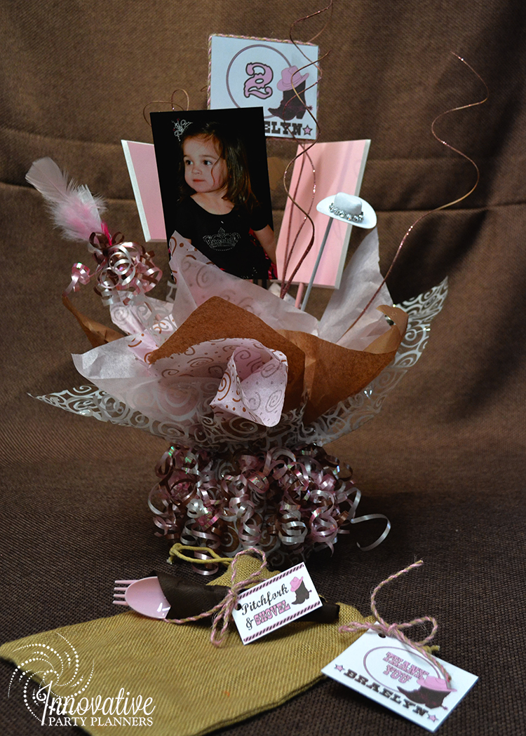 Children's Birthday | Cowgirl Theme Centerpieces | Decor by Innovative Party Planners
