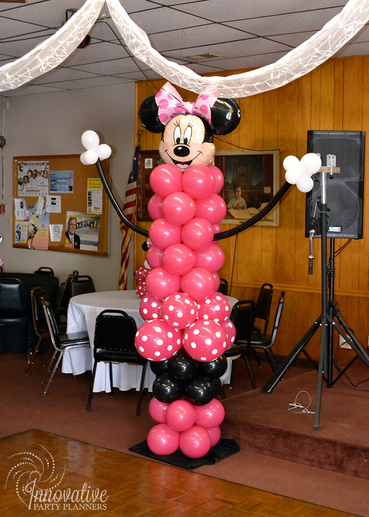 Children's Birthday | Minnie Mouse Balloons | Decor by Innovative Party Planners