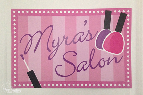 Sweet 16 | Salon Sign | Decor by Innovative Party Planners