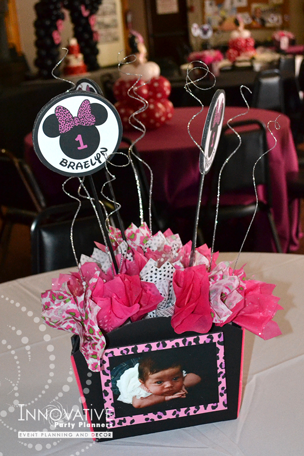 Children's Birthday | Minnie Mouse Centerpieces | Decor by Innovative Party Planners