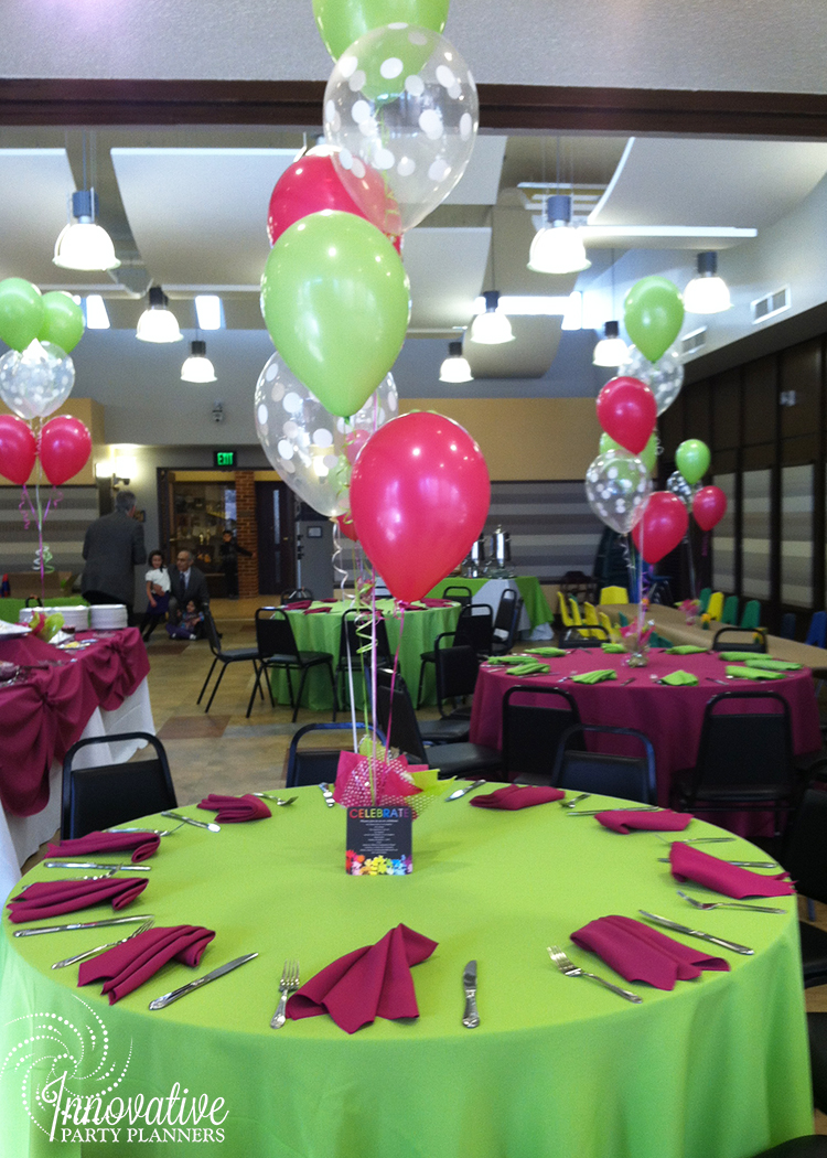 Children's Birthday| Balloon Centerpieces | Decor by Innovative Party Planners