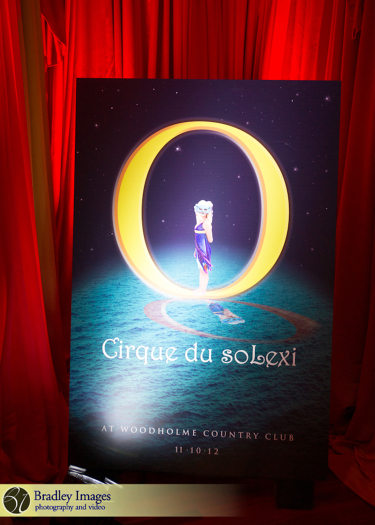 Cirque du SoLexi | Welcome Sign | Bat Mitzvah cirque theme, fire and ice theme, fire and water theme, decor by Innovative Party Planners at Woodholme Country Club