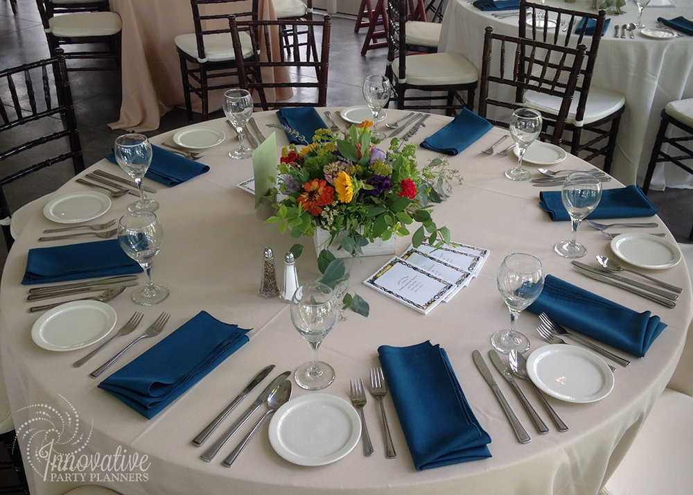 Wedding at Stock's Manor | Table | decor by Innovative Party Planners