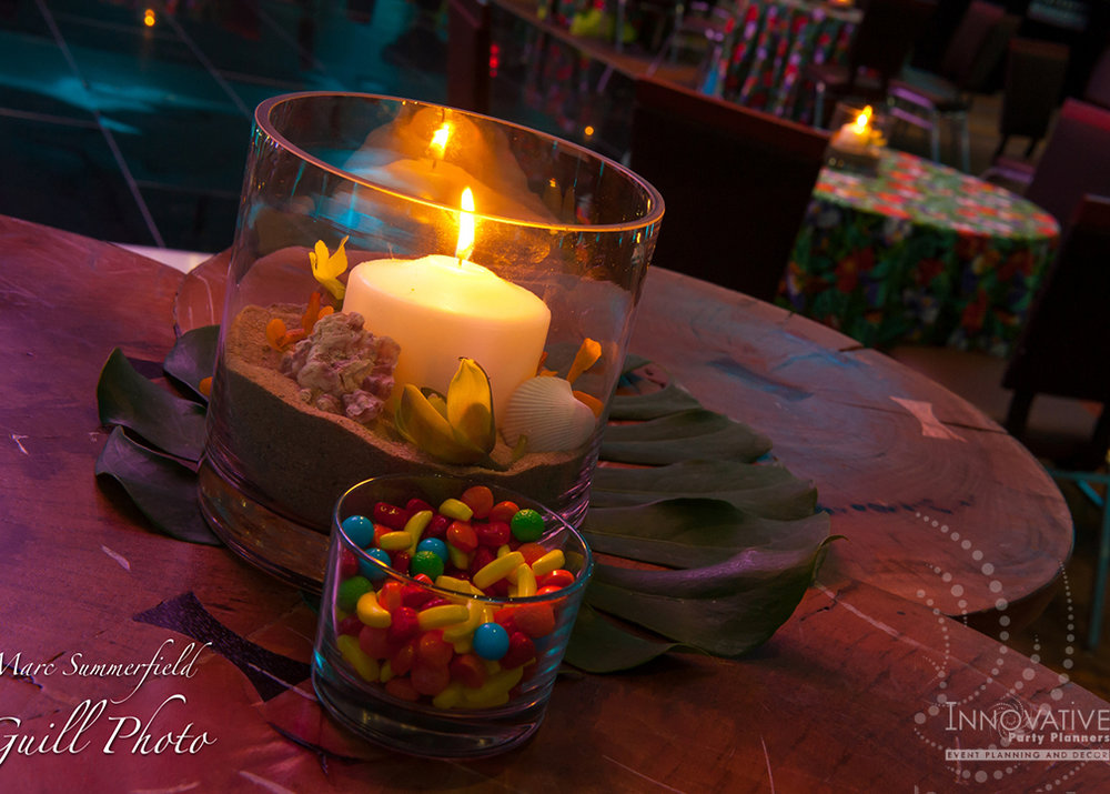 Holiday Party at BWI Hilton - Hawaiian Theme Decor