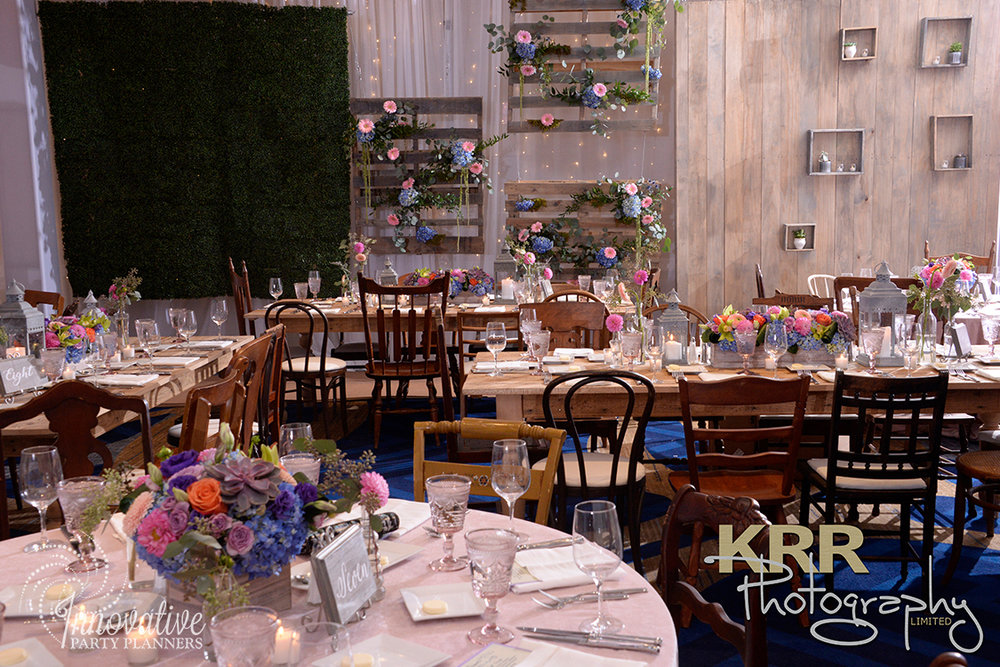 Garden Theme Bat Mitzvah   Wall Treatment  Decor by Innovative Party Planners