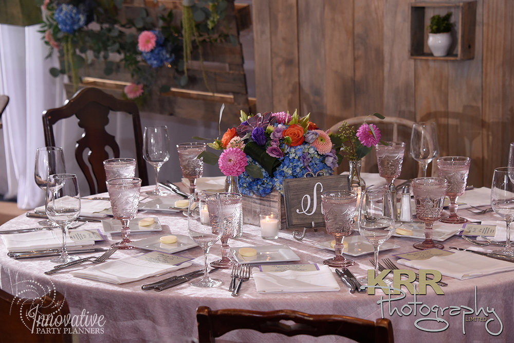 Garden Theme Bat Mitzvah   Adult Tables  Decor by Innovative Party Planners