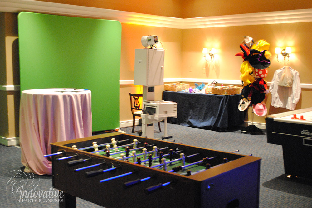 Garden Theme Bat Mitzvah   Photo Booth and Game Room Decor by Innovative Party Planners