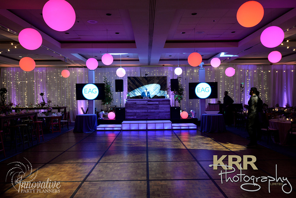 Garden Theme Bat Mitzvah   Dance Floor  Decor by Innovative Party Planners