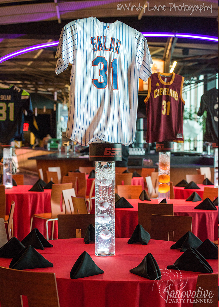 Sports Theme Bar Mitzvah Party at M&T Bank Stadium