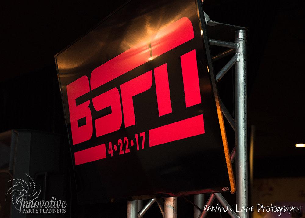 BSPN Logo on TV Monitor_M&T Bank Stadium_Bar Mitzvah_1.jpg