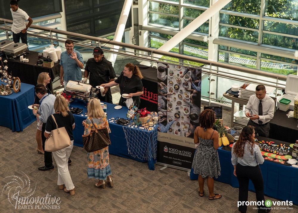 Food Stations_1_Inner Harbor_SYTA Opening Reception_Visit Baltimore_8-24-18.jpg