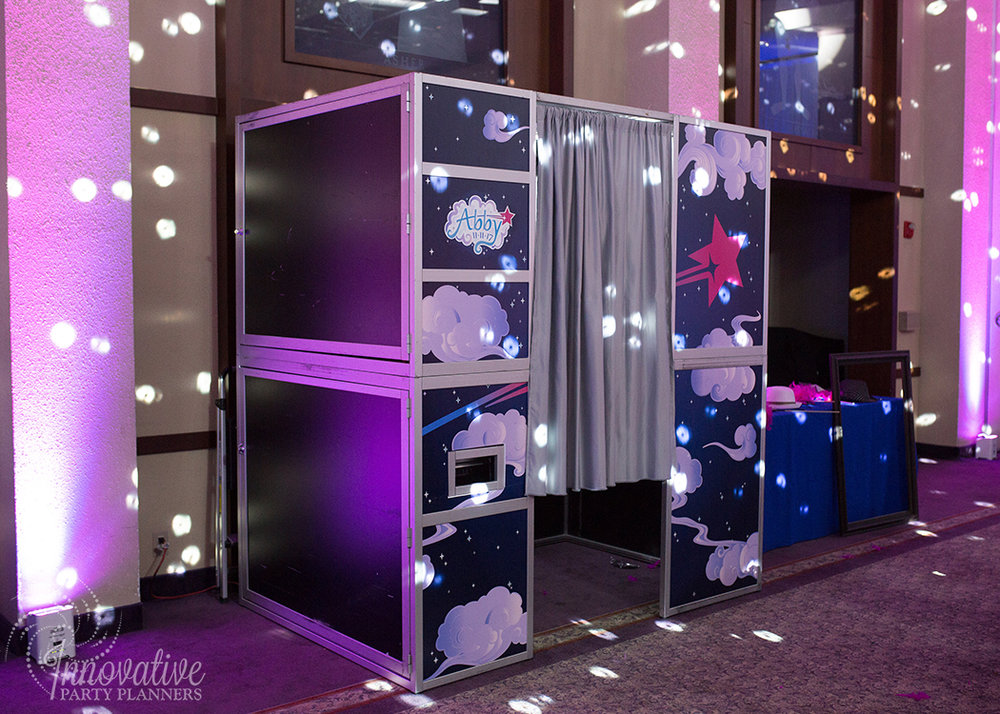 Abby's Starry Night | Photo Booth Custom Wrap by Innovative Party Planners