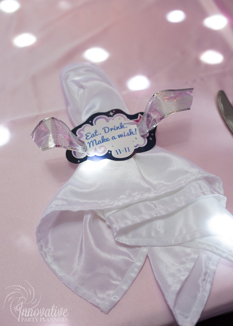 Abby's Starry Night | Custom  Napkin Wrap with Message by Innovative Party Planners