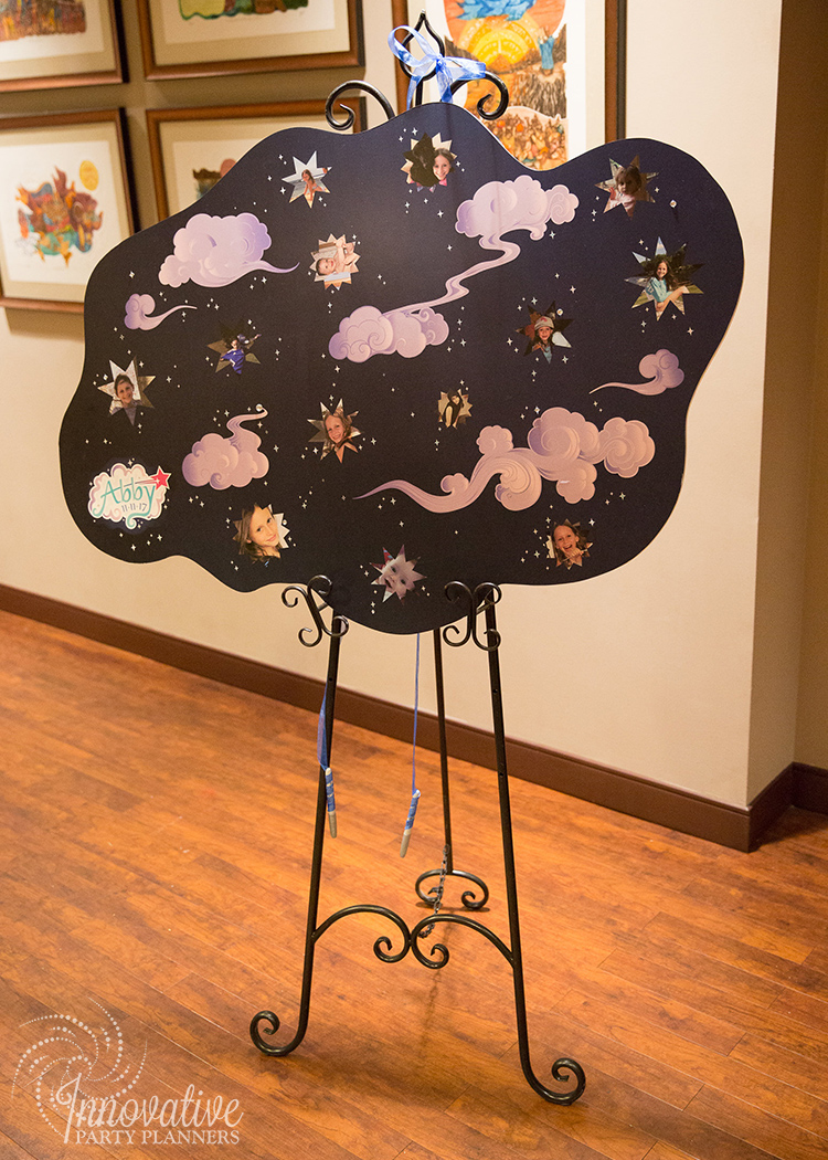 Abby's Starry Night | Clouds Sign In Board by Innovative Party Planners