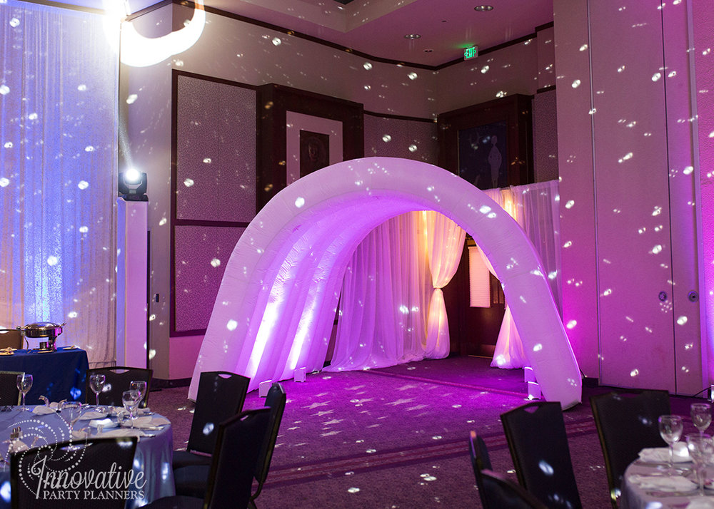 Abby's Starry Night | Grand Entry Transformation Tunnel by Innovative Party Planners