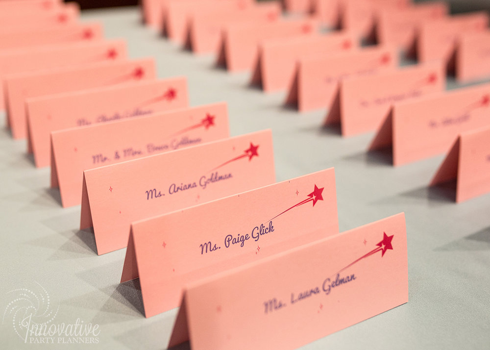 Abby's Stary Night | Place Cards by Innovative Party Planners