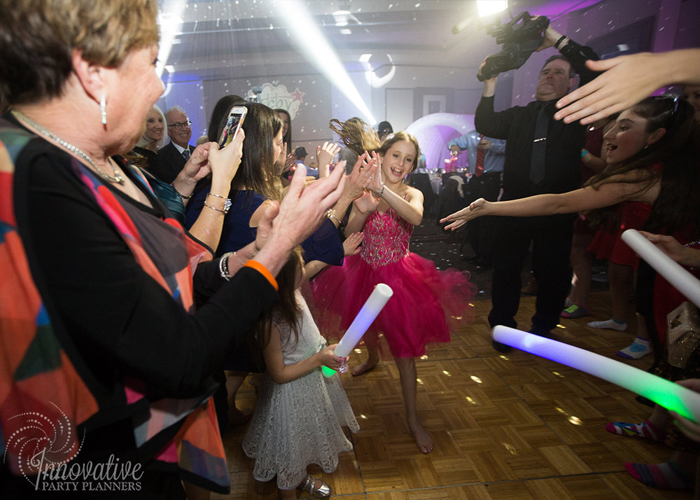 Abby's Starry Night | Bat Mitzvah Grand Entrance by Innovative Party Planners